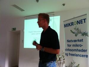 martin Nilsson, vordingborg kómmune, fortalte om projektet Mikrovirksomheder og vækst i ydeområderne