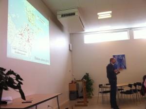 Martin Nilssson fortalte om projektet (foto af Abelone Glahn)