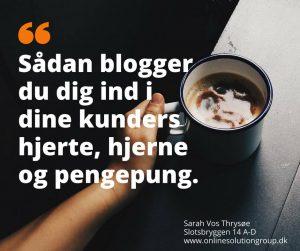 sarah vos trysøe fortæller om blogging